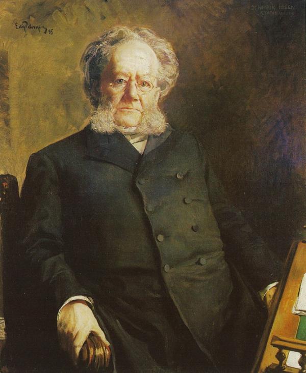 Henrik Ibsen av Eilif Peterssen 1895